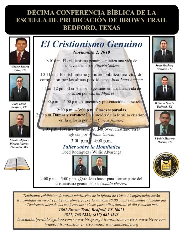 Conferencias Bíblicas de la Escuela de Predicación de Brown Trail 2019